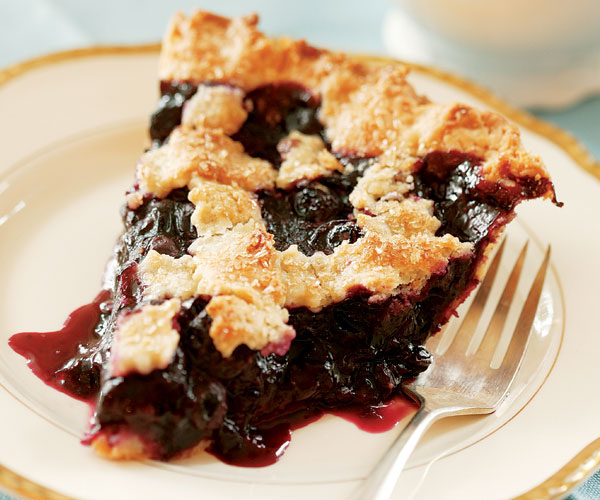 Lattice-Top Blueberry Pie