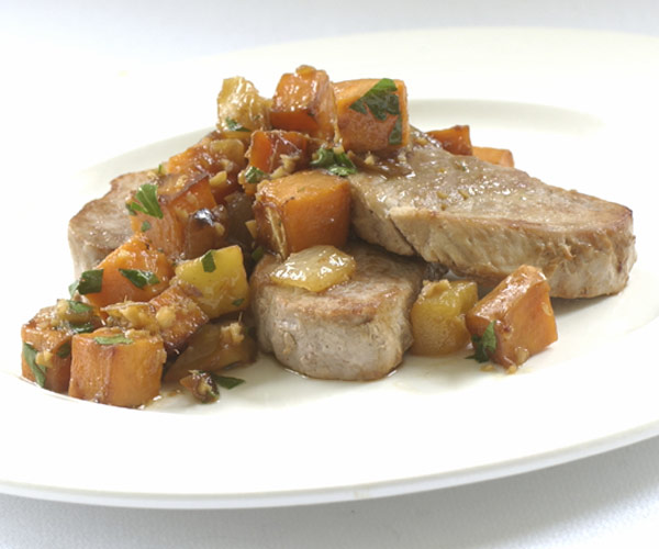 Pork, Sweet Potato & Apple Saute