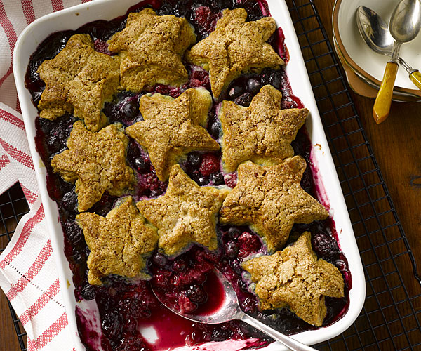 Fourth of July Mixed Berry Cobbler
