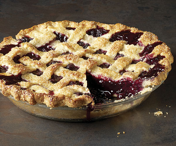 Classic Lattice-Top Blueberry Pie