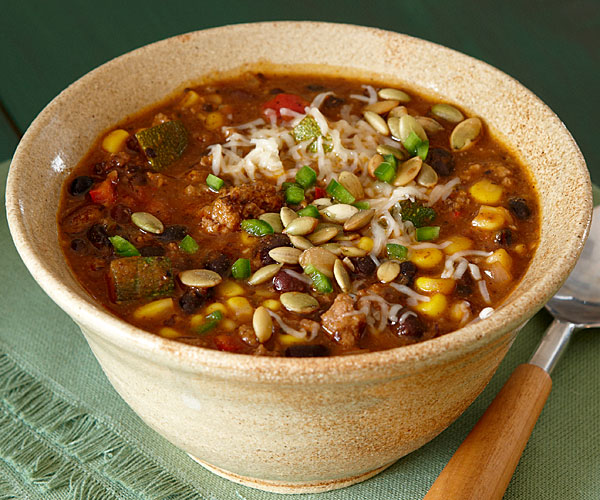 Southwestern Beef and Black Bean Chili