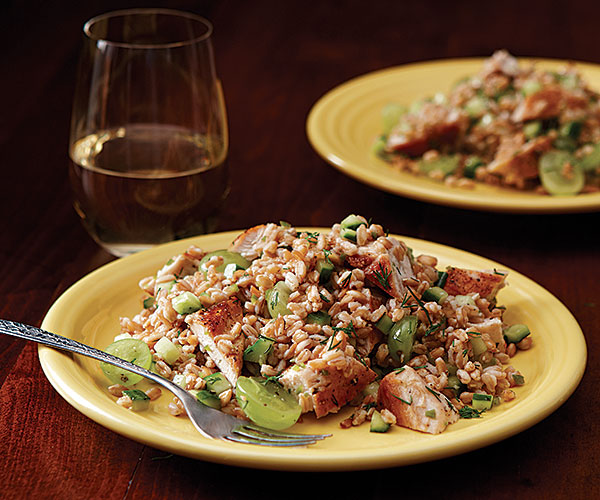 Farro, Chicken, and Grape Salad