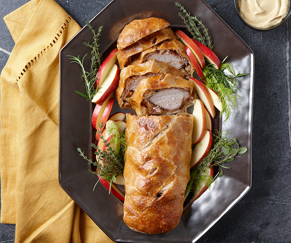 Pork Wellington with Fennel, Apples, and Dijon